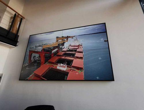 Monitor-Videowall Lübecker Massengutreederei